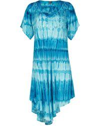 Izabel London - Dipped Hem Loose Dress - Lyst