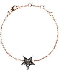 LÁTELITA London - Diamond Star Bracelet Rose Gold - Lyst