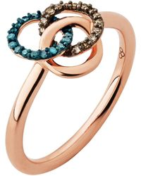 Links of London | Treasured Rose Gold & Diamond Ring | Lyst