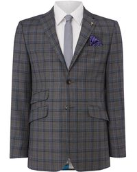 Ted Baker - Grave Checked Suit Jacket - Lyst