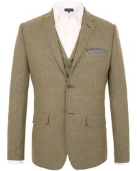 Racing Green | Wright Herringbone Tailored Jacket | Lyst