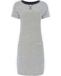 Barbour - Striped Jersey Monreith Shift Dress - Lyst
