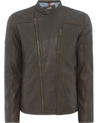 Pepe Jeans - Men's Arbor Leather Jacket - Lyst