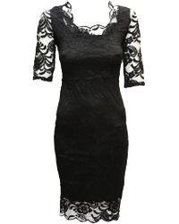 Feverfish - Lace Scallop Dress - Lyst