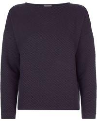 Jaeger | Padded Jacquard Sweatshirt | Lyst
