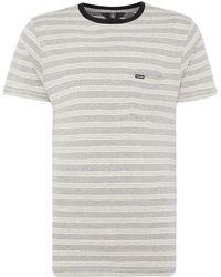 Volcom - Striped Crew-neck T-shirt - Lyst