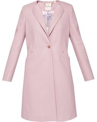Ted Baker - Emiilio Collarless Wool Coat - Lyst
