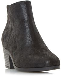 Dune - Black 'pretty' Back Zip Ankle Boots - Lyst