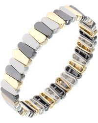 Nine West - Tri-tone Stretch Bracelet - Lyst