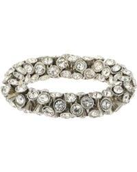 Mikey - Large Crystal Elastic Bracelet - Lyst