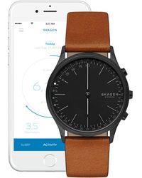 Skagen - Jorn Leather Strap Hybrid Smartwatch - Lyst
