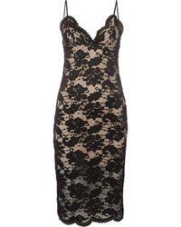 Bardot - Strappy Contrast Lace Bodycon Dress - Lyst