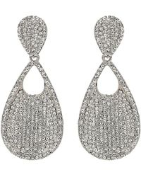 Mikey - Twin Oval Crysral Disc Dangling Earring - Lyst