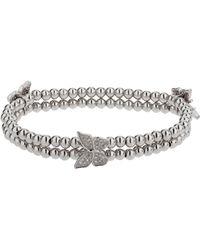 Mikey - Triple Butterfly Twin Line Bracelet - Lyst