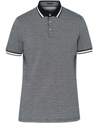Ted Baker | Striped Collar Cotton Polo Shirt | Lyst