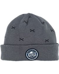 Bench - Turn Up Embroidered Beanie - Lyst