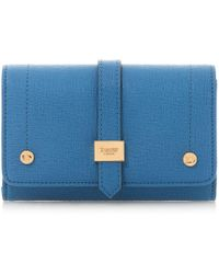Dune - Blue 'kophie' Small Fold Over Purse - Lyst
