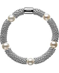 John Lewis - Links Of London Effervescence Star Sterling Silver Pearl Bracelet - Lyst