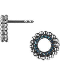 Links of London - Effervescence Blue Diamond Stud Earrings - Lyst