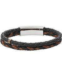 Fossil | Vintage Multi-strand Leather Bracelet | Lyst