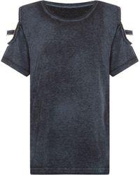 Label Lab | Byrne Cutwork Jersey Top | Lyst
