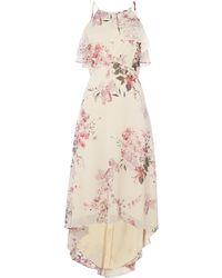 Ariella - Ruffle Top High Low Hem Dress - Lyst