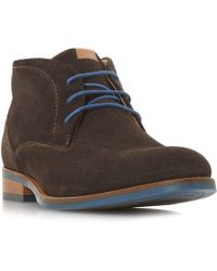 Dune - Carmelo Perforated Suede Chukka Boots - Lyst