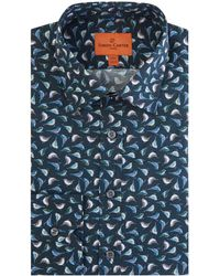 Simon Carter | Men's Blue Tit Print Shirt | Lyst