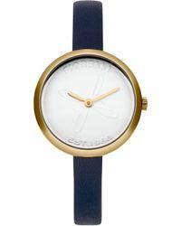 Fiorelli - Ladies Navy Leather Strap Watch - Lyst