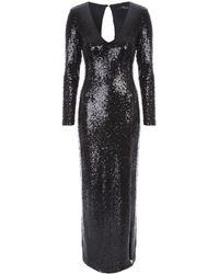 Jane Norman - Black Sequin Maxi Dress - Lyst