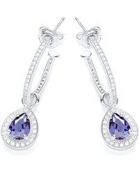 Bouton - Hoop Earrings Pear Charm - Lyst