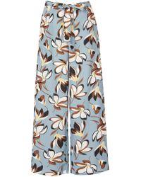 Izabel London - Side Cut Wide Leg Trousers - Lyst