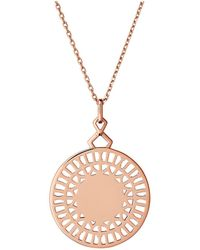 Links of London - Timeless 18kt Rose Gold Vermeil Necklace - Lyst