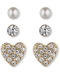 Lonna & Lilly - Classic Stud Earring 3 Pair Set - Lyst