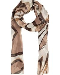 Basler - Animal Print Silk Scarf - Lyst