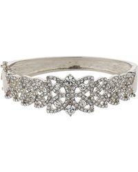 Mikey - Filigree Leaf Design Crystal Bracelet - Lyst