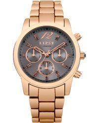 Lipsy - Ladies Rose Gold Bracelet Watch - Lyst