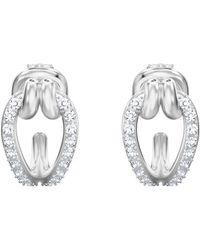 Swarovski - Lifelong Hoop Pierced Earrings - Lyst