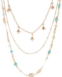 Accessorize - Layered Chain Beaded Rope - Lyst