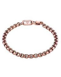 Guess | Men`s Brown Ip Box Chain Bracelet | Lyst