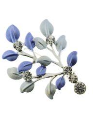Indulgence Jewellery - Blue Leaves Brooch - Lyst