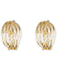 Anne Klein - Open Weave Button Clip Earrings - Lyst