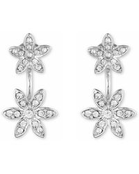 Anne Klein - Fower Flaoter Earrings - Lyst