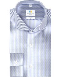 Richard James - Dash Dobby Stripe Slim Fit Shirt - Lyst