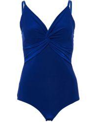 Quiz - Blue Knot Front Bodysuit - Lyst