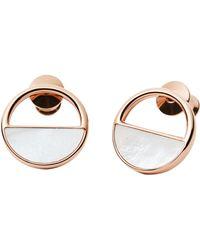 Skagen - Skj0998791 Elin Rose-gold Pearl Earrings - Lyst