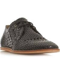 Bertie - Bayfield Unlined Woven Lace Up Shoes - Lyst