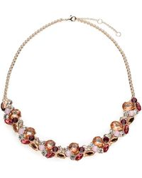 Jacques Vert   Mixed Colour Crystal Necklace   Lyst