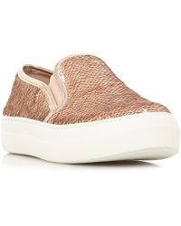 Lyst - Steve Madden Glenn Elastic Detail Skater Shoes in White 586267381