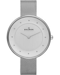 Skagen - Skw2140 Gitte Silver Ladies Mesh Watch - Lyst